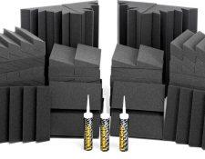 COMO AISLAR ACUSTICAMENTE UN HOME STUDIO BARATO PARA PRINCIPIANTES Auralex Acoustics Roominators Alpha-DST Charcoal