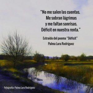 poema deficit palma lara rodriguez poesia para la reflexion frases para la reflexion micropoemas micropoesia poetas jovenes espana