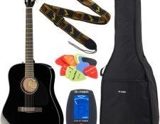 Pack guitarra acustica principiantes CD-60 BK Bundle