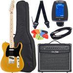 cual es la mejor guitarra electrica para principiantes 2020 Fender SQ Affinity Tele MN BB