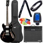 que guitarra me compro para empezar a tocar la guitarra desde cero 2020 Harley Benton HB-35LH BK Vintage