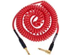Cable de instrumento en espiral con conectores chapados en oro Kirlin Premium Coil Cable 6m rojo cual es el mejor cable para guitarra 2020