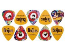 Set de puas de guitarra de los Beatles yellow submarine guitarristas frikis de los beatles